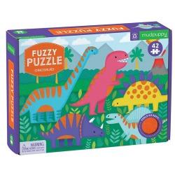 DINOZAURY tekturowe puzzle sensoryczne z miękkimi aplikacjami 42 el.