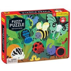 ŻUCZKI I ROBACZKI tekturowe puzzle sensoryczne z miękkimi aplikacjami 42 el.