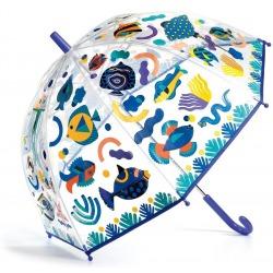 MAGICZNE RYBKI przeźroczysta parasolka zmieniająca kolor