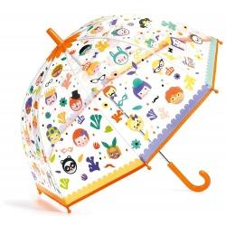 MAGICZNE BUŹKI przeźroczysta parasolka zmieniająca kolor