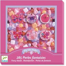 MOTYLKI perełki koraliki zestaw do tworzenia biżuterii 285 el.