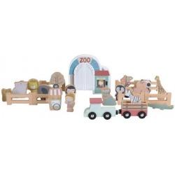 DREWNIANE ZOO zestaw z figurkami