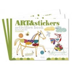 ART&STICKERS zeszyt kreatywny z naklejkami