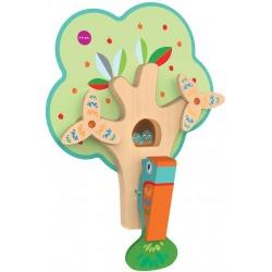 ZAPRACOWANY PAN DZIĘCIOŁ drewniana zabawka edukacyjna VertiPlay