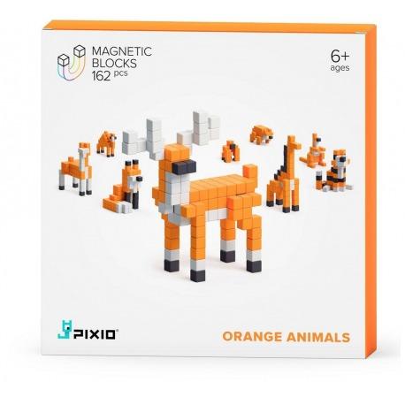 ORANGE ANIMALS klocki magnetyczne 162 szt. Story Series
