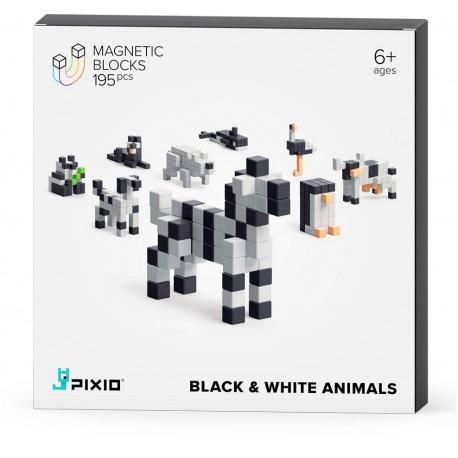 BLACK&WHITE ANIMALS klocki magnetyczne 195 szt. Story Series