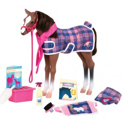 QUARTER źrebak koń 30 cm dla lalki