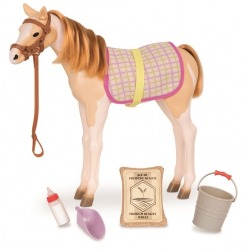 MUSTANG W ŁATY źrebak koń 30 cm dla lalki