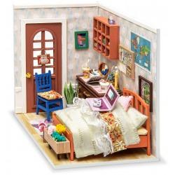 SYPIALNIA ANNY składany drewniany model puzzle 3D