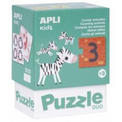 LICZENIE ZWIERZĄTEK puzzle tekturowe duo