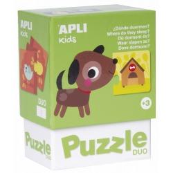 GDZIE MIESZKAJĄ ZWIERZĄTKA puzzle tekturowe duo
