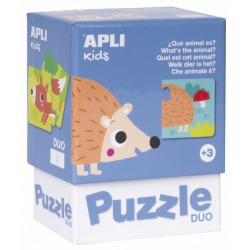 JAKIE TO ZWIERZĄTKO puzzle tekturowe duo 24 el.