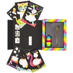 ZWIERZĄTKA zestaw kreatywny zdobienie taśmą Neon Tape Art