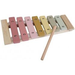 CYMBAŁKI drewniany instrument róż