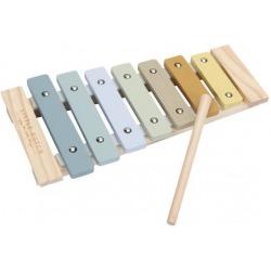 CYMBAŁKI drewniany instrument błękit