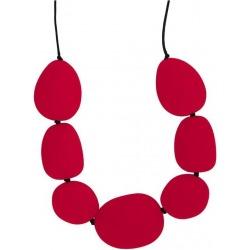 KAMIENIE czerwony silikonowy naszyjnik 37 cm