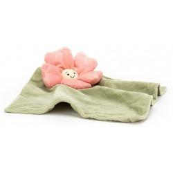 PETUNIA kwiatek różowa przytulanka kocyk Fleury Petunia