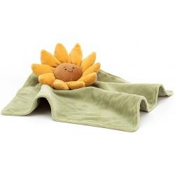 SŁONECZNIK kwiatek zółta przytulanka kocyk Fleury Sunflower
