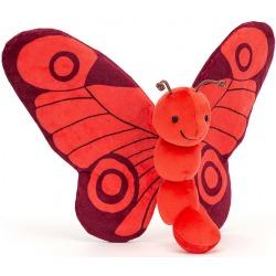 CZERWONY MOTYLEK przytulanka Breezy Butterfly Poppy 23 cm