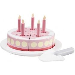 DREWNIANY TORT urodzinowy Pink Bistro