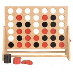 CZTERY W RZĘDZIE drewniana gra logiczna wersja duża