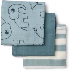 SEA FRIENDS bawełniana pieluszka zestaw 3 szt. 70x70 cm Blue GOTS