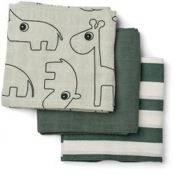 GREEN gots bawełniana pieluszka zestaw 3 szt. 70x70 cm Sea Friends
