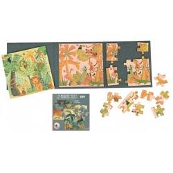 DŻUNGLA puzzle magnetyczne 2x20 el.