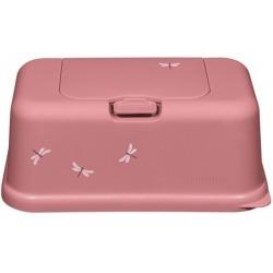 RÓŻOWY POJEMNIK na chusteczki Pink Dragonfly