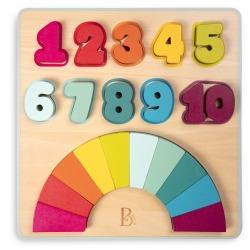 TĘCZOWE CYFERKI drewniana układanka Counting Rainbows