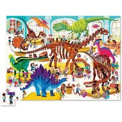DZIEŃ W MUZEUM dinozaury puzzle tekturowe 48 el.