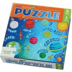 PRZESTRZEŃ KOSMICZNA tekturowe puzzle holograficzne 60 el.