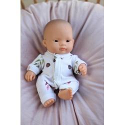 FLORA bawełniana piżamka dla lalki 21 cm