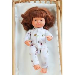 FLORA bawełniana piżamka dla lalki 38 cm