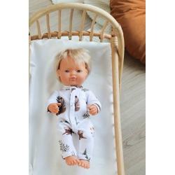 FOREST bawełniana piżamka dla lalki 38 cm