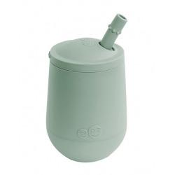 SILIKONOWY KUBECZEK ZE SŁOMKĄ pastelowa zieleń Mini Cup + Straw Training