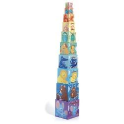 TĘCZA piramida z pudełek