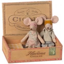 MAMA I TATA myszki w pudełku po cygarach