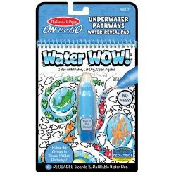PODWODNY ŚWIAT wodna kolorowanka z zadaniami WATER WOW