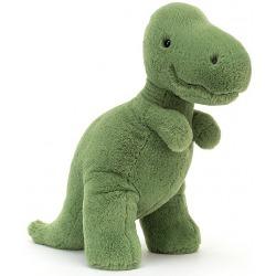 T-REX zielona przytulanka Fossilly 28 cm