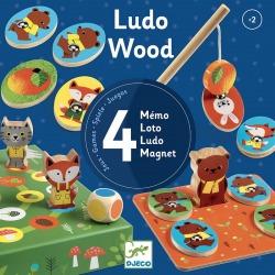 LUDO WOOD zestaw gier 4w1