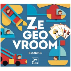 POJAZDY drewniane kształty układanka geometryczna Ze Geo Vroom