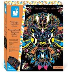 ZWIERZĄTKA fluorescencyjne flamastry zestaw kreatywny Art&Craft