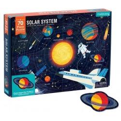 OUTLET - UKŁAD SŁONECZNY puzzle z elementami w kształcie planet 70 el.