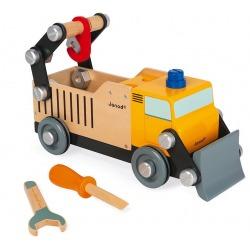 DREWNIANA CIĘŻARÓWKA do składania z narzędziami Brico'kids