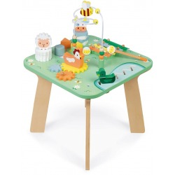 ŁĄKA drewniany wielofunkcyjny stolik edukacyjny