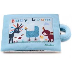 BABY BOOM wielofunkcyjna książeczka z mini-przytulankami