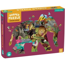 AFRYKAŃSKIE SAFARI tekturowe puzzle 300 el.