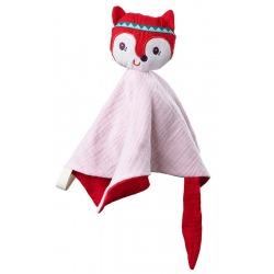 LISICZKA ALICE płaska przytulanka komforter z mini pacynką