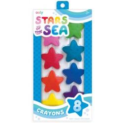 GWIAZDKI kredki woskowe 8 szt. Stars Of The Sea